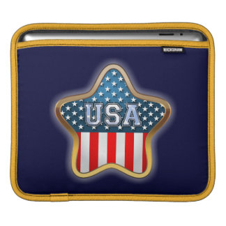 Housse Pour iPad Drapeau américain en forme d'étoile