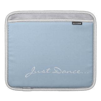 Housse Pour iPad Gardez le calme et dansez sur bleu-clair