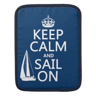 Housse Pour iPad Gardez le calme et naviguez dessus - toutes les