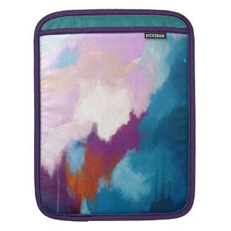 Housse Pour iPad Lilas avec la peinture abstraite moderne d'Aqua -
