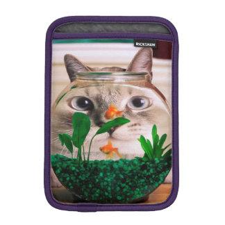 Housse Pour iPad Mini Chat et poissons - chat - chats drôles - chat fou