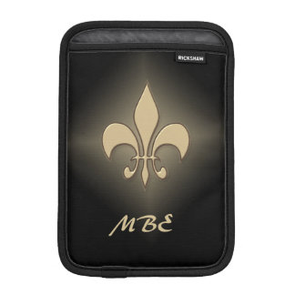 Housse Pour iPad Mini Gold Fleur de Lis noir