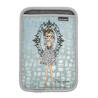 Housse Pour iPad Mini Hippie Girly mignon avec douille d'iPad en verre