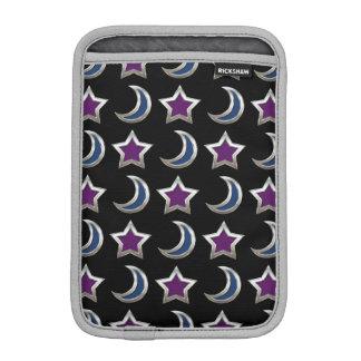 Housse Pour iPad Mini Noir pourpre argenté de motif d'étoiles bleues et