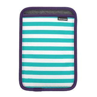 Housse Pour iPad Mini Rayures horizontales d'Aqua