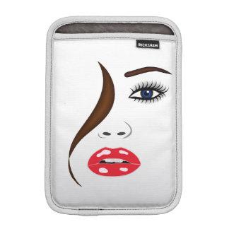 Housse Pour iPad Mini Visage avec le rouge à lèvres dans douille d'iPad