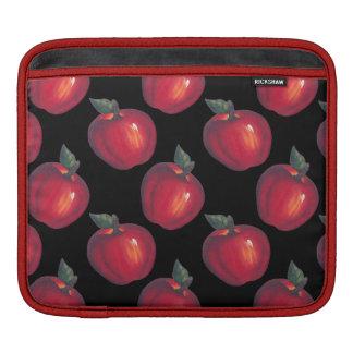 Housse Pour iPad Noir rouge de pommes