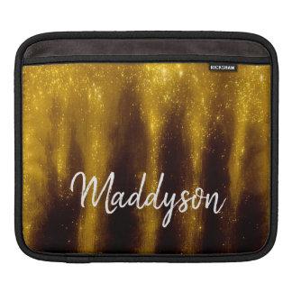 Housse Pour iPad Peinture et parties scintillantes d'or de Faux sur