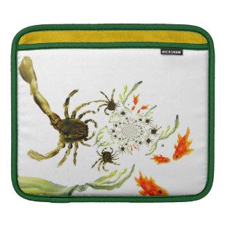 Housse Pour iPad Poissons et crabes d'amusement de piscine de roche