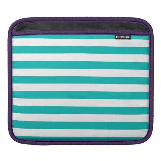Housse Pour iPad Rayures horizontales d'Aqua