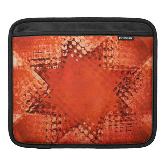 Housse Pour iPad Rétro douille tramée rouge d'ipad d'étoile