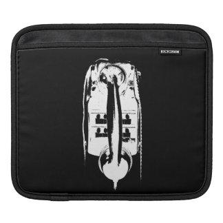 Housse Pour iPad Rétro téléphone noir et blanc - douille de