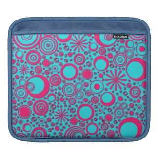 Housse Pour iPad Ronds, douille d'iPad de Rose-Aqua horizontale