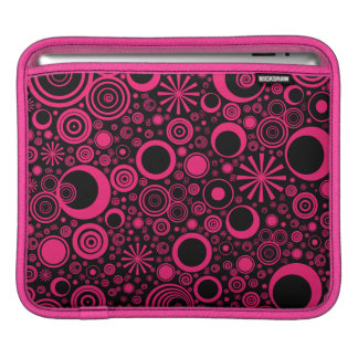 Housse Pour iPad Ronds, douille Rose-Noire d'iPad horizontale