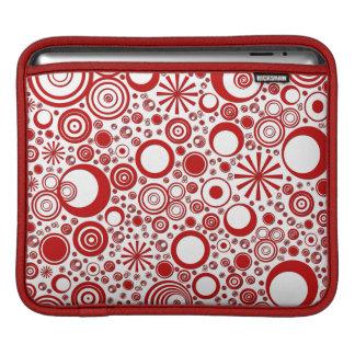 Housse Pour iPad Ronds, douille Rouge-Blanche d'iPad horizontale