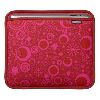 Housse Pour iPad Ronds, douille rouge-rose d'iPad horizontale