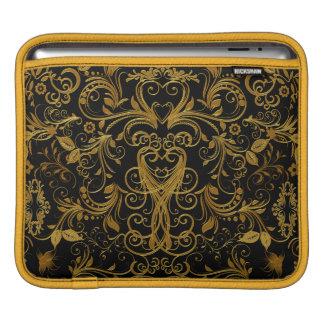 Housse Pour iPad Travail de rouleau, douille d'Or-ipad