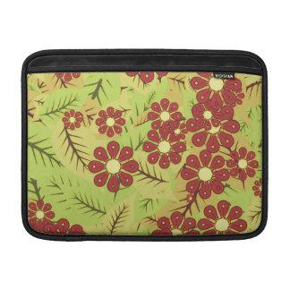 Housse Pour Macbook Air Feuillage et fleurs