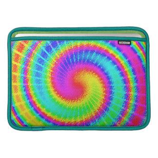 Housse Pour Macbook Air Rétro hippie de colorant de cravate psychédélique