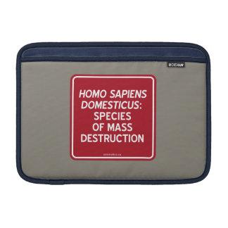 HOUSSE POUR MACBOOK AIR S. HOMO DOMESTICUS : ESPÈCES DE DESTRUCTION