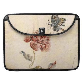 Housse Pour Macbook Aquarelle vintage d'abeille, de papillon et de