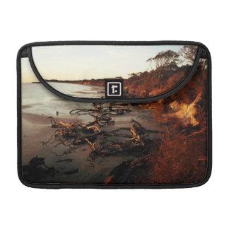 Housse Pour Macbook Coucher du soleil sur le bois de flottage