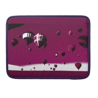 Housse Pour Macbook Douille chaude pourpre de Macbook de ballon à air