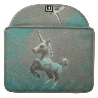 Housse Pour Macbook Douille de Macbook de licorne (acier turquoise)