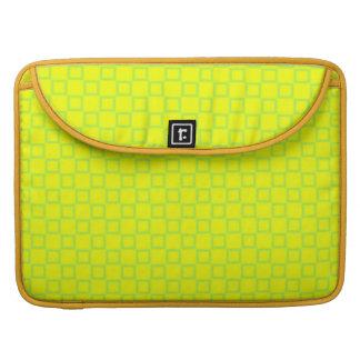 Housse Pour Macbook Douille jaune et verte classique d'aileron de