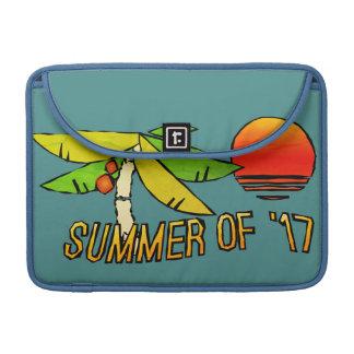 Housse Pour Macbook Été - coucher du soleil parfait de plage - carrelé