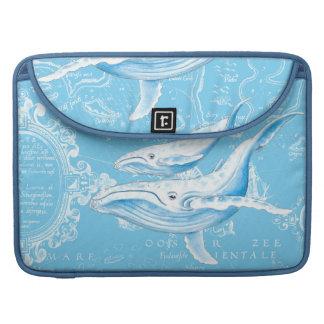 Housse Pour Macbook Famille de baleines bleues