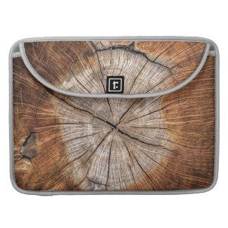Housse Pour Macbook Grain en bois, argent