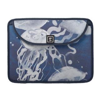 Housse Pour Macbook Méduses sur l'arrière - plan de marine