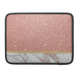 Housse Pour Macbook Parties scintillantes d'or de rose de rose et