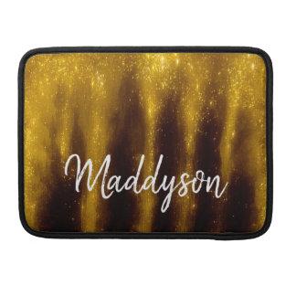 Housse Pour Macbook Peinture et parties scintillantes d'or de Faux sur