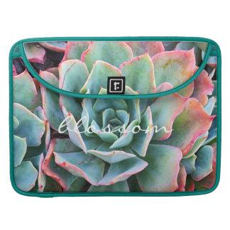 """Housse Pour Macbook Photo rose et verte de citation de """"fleur"""" de"""