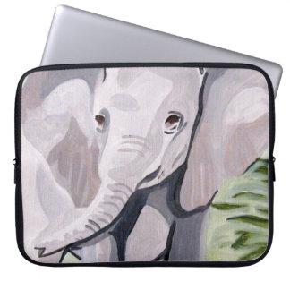 Housse Pour Ordinateur Portable Ayant un éléphant de bébé de palette (art de