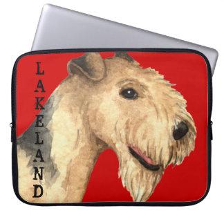 Housse Pour Ordinateur Portable Bloc de couleur de région des lacs Terrier