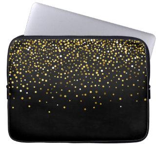 Housse Pour Ordinateur Portable Confettis fascinants de parties scintillantes d'or