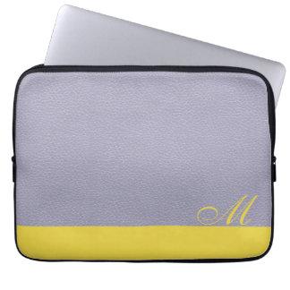 Housse Pour Ordinateur Portable Douille décorée d'un monogramme d'ordinateur
