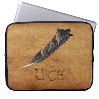 Housse Pour Ordinateur Portable Douille d'ordinateur portable de plume de Natif