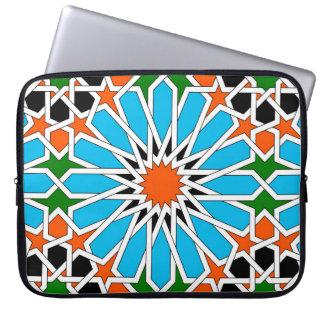 Housse Pour Ordinateur Portable Douille géométrique islamique de pousse-pousse de