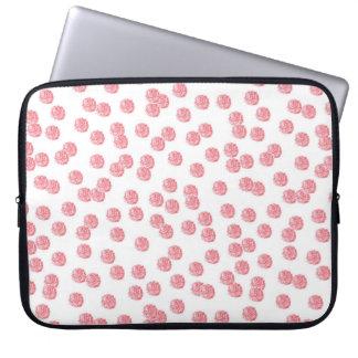 """Housse Pour Ordinateur Portable Douille rouge 15"""" d'ordinateur portable de pois"""