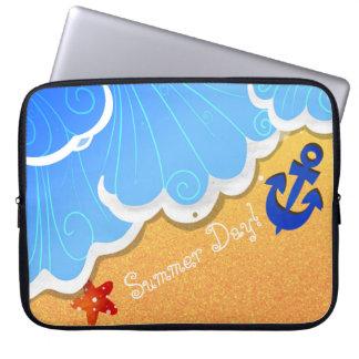 Housse Pour Ordinateur Portable Douilles d'ordinateur portable de plage d'été