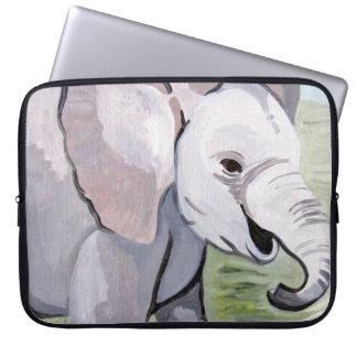 Housse Pour Ordinateur Portable Éclaboussement au sujet de l'éléphant de bébé (art