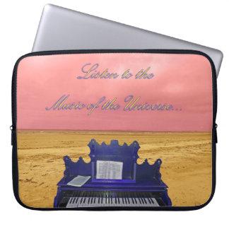 Housse Pour Ordinateur Portable Écoutez la musique du collage d'univers