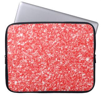 Housse Pour Ordinateur Portable Étincelles rouges à la mode de blanc de parties
