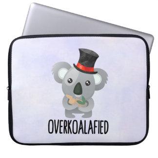 Housse Pour Ordinateur Portable Koala mignon de calembour d'Overkoalafied dans le