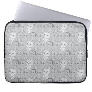 Housse Pour Ordinateur Portable Le motif gris du bébé | de patron