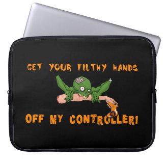 Housse Pour Ordinateur Portable Le zombi obtiennent vos mains outre de mon